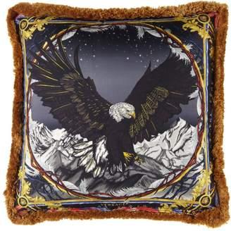 Versace Sam Bald Eagle Silk Accent Pillow