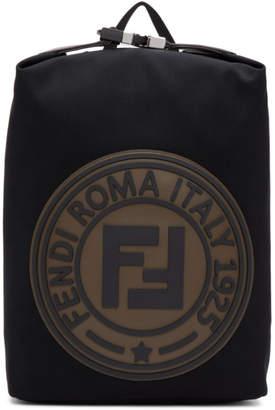 Fendi Black Roma Italy 1925 Backpack