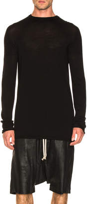 Rick Owens Oversized Roundneck Sweater in Black | FWRD