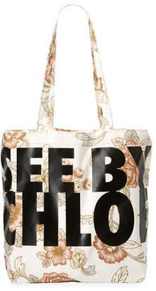 See by Chloe Live Printed Fabric Tote Bag
