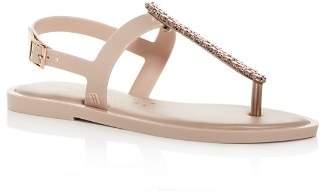 Melissa Women's Embellished Slim T-Strap Thong Sandals