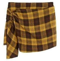 MANGO Check skirt pants