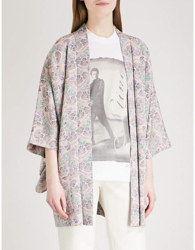 Vintage woven kimono jacket