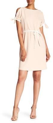 Sharagano Cold Shoulder Midi Dress