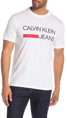 Calvin Klein Logo Printed Crew Neck