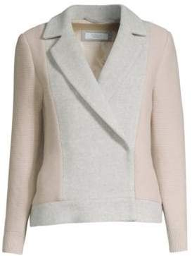 Peserico Wool-Blend Double-Breasted Jacket