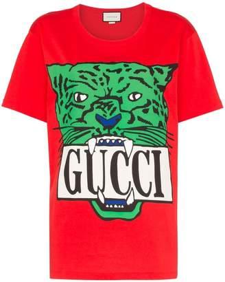 Gucci tiger print logo T-shirt