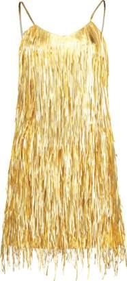 Michael Kors Metallic Fringe Slip Dress