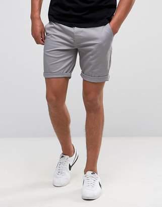 Asos DESIGN Slim Chino Shorts In Warm Gray