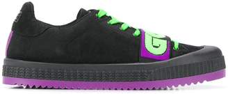 GCDS colour block lace-up sneakers