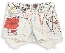 Blank NYC Girl's Floral Dip Dye Shorts