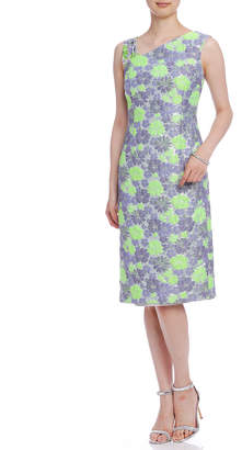 Paola Frani (パオラ フラーニ) - PAOLA FRANI フラワージャカード 異素材ストラップ ドレス グリーン 38