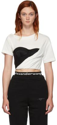 Alexander Wang White Draped Bustier T-Shirt