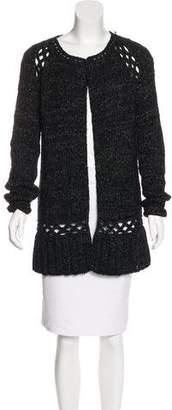 Lela Rose Wool & Alpaca-Blend Knit Cardigan