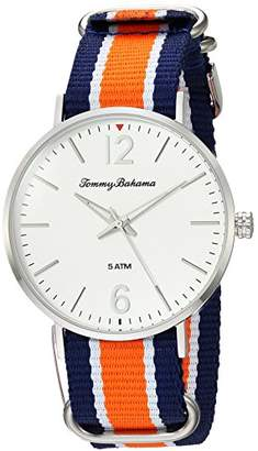 Tommy Bahama Men's Quartz Stainless Steel and Nylon Casual WatchMulti Color (Model: TB00017-02)