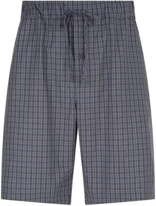 Hanro Cotton Check Pyjama Shorts
