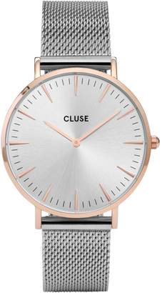Cluse La Boheme CL18116 Two-Tone Mesh Bracelet Analog Watch