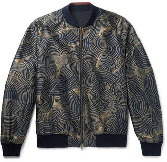 Dries Van Noten Reversible Shell And Printed Twill Bomber Jacket