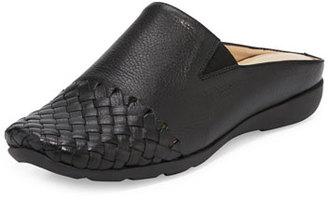 Sesto Meucci Gabor Woven Mule Sneaker, Black $250 thestylecure.com