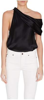 Alix Maiden Black Silk Bodysuit
