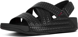 FitFlop Chi Men's Woven Embossed Leather Sandals