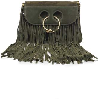 J.W.Anderson Medium Pierce Suede Fringe Bag