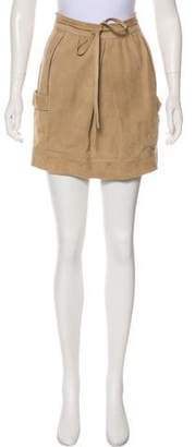 CNC Costume National Suede Mini Skirt