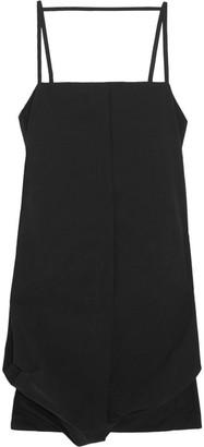 Maison Margiela - Cotton-blend Poplin Dress - Black $895 thestylecure.com