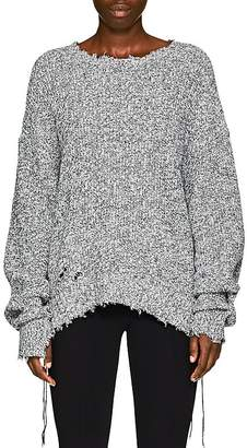 Helmut Lang Women's Distressed Cotton-Blend Sweater