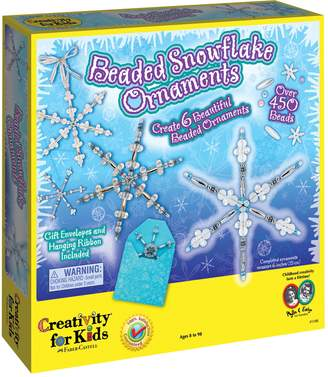 Creativity For Kids Beaded Snowflake Ornaments