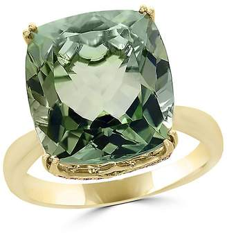 Bloomingdale's Prasiolite Cushion and Diamond Ring in 14K Yellow Gold - 100% Exclusive