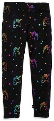 Terez Girls' Rainbow Unicorn Print Leggings - Big Kid