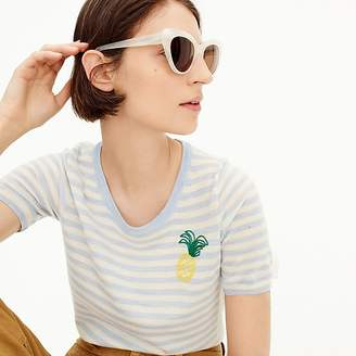 J.Crew Tippi short-sleeve sweater in pineapple stripe
