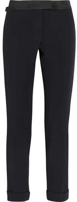 Tom Ford Satin-trimmed Cady Tuxedo Pants - Black
