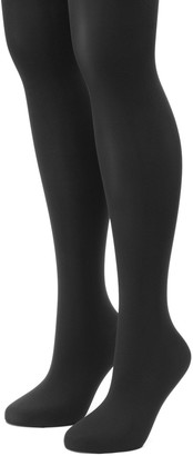 Apt. 9 Plus Size 2-pk. Solid Tights