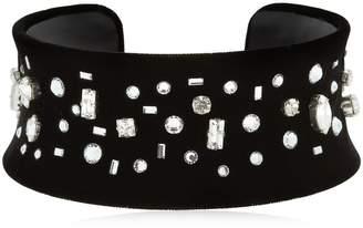 Giuseppe Zanotti Design Density Velvet & Crystal Necklace