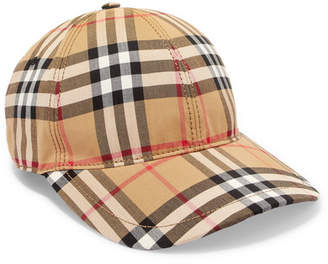 Burberry Checked Cotton-canvas Baseball Cap - Camel