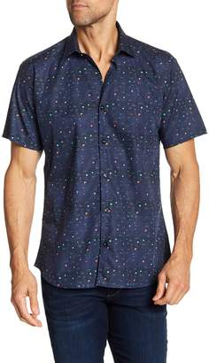Jared Lang Constellation Print Short Sleeve Shirt