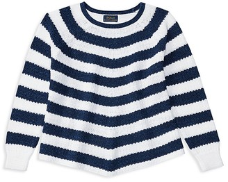 Ralph Lauren Childrenswear Girls' Flared Striped Sweater - Sizes S-XL $65 thestylecure.com