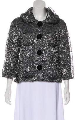 Marc Jacobs Cashmere Lace-Accented Cardigan