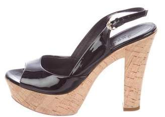 Gucci Patent GG Platform Sandals