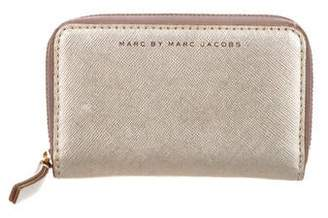 28c77d2c00 Marc by Marc Jacobs Metallic Leather Compact Wallet