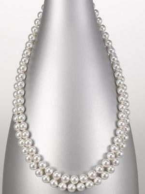 Majorica 8MM White Pearl Endless Strand Necklace