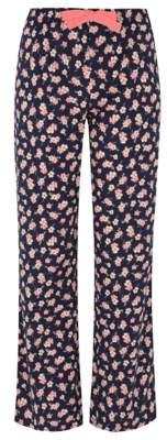 George Black Floral Pyjama Bottoms