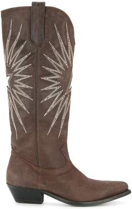 Golden Goose embroidered cowboy boots