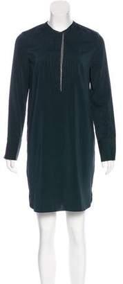 Brunello Cucinelli Silk Monili-Trimmed Dress