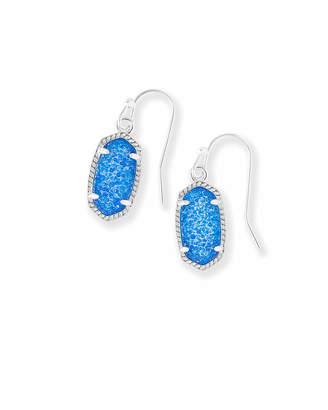 Kendra Scott Lee Silver Drop Earrings in Cobalt Drusy
