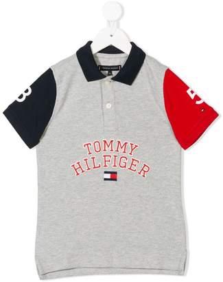 Tommy Hilfiger Junior logo print polo shirt