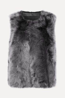 Karl Donoghue Toscana Reversible Shearling Vest - Gray