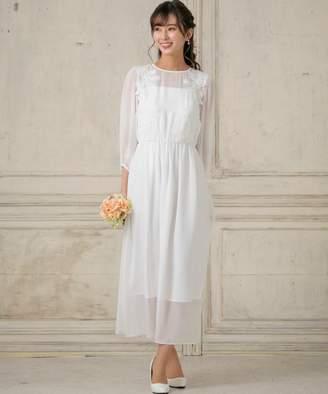 form forma 【結婚式・ウェディングドレス】シフォンスリーブロングウェディングドレス